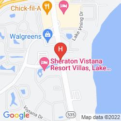 Mapa SHERATON VISTANA RESORT VILLAS, LAKE BUENA VISTA/ORLANDO
