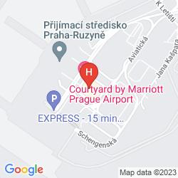 Mapa COURTYARD PRAGUE AIRPORT