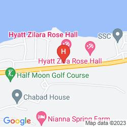Mapa HYATT ZIVA ROSE HALL – ALL INCLUSIVE