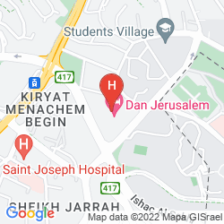 Mapa DAN JERUSALEM