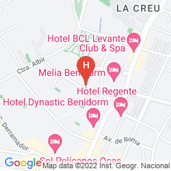 Mapa APARTAMENTOS LUXMAR