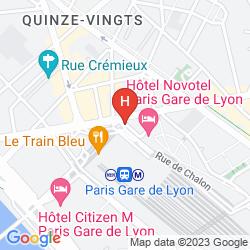 Mapa NOVOTEL GARE DE LYON