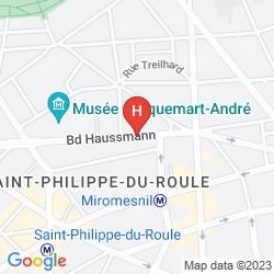 Mapa ADAGIO PARIS HAUSSMANN