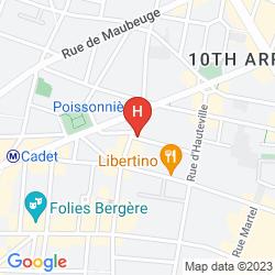 Mapa PARIS LA FAYETTE
