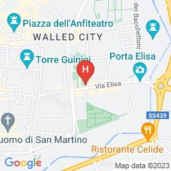 Mapa DA ELISA ALLE SETTE ARTI