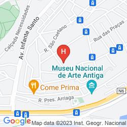 Mapa OLISSIPPO LAPA PALACE - THE LEADING HOTELS OF THE WORLD