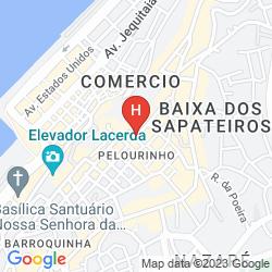 Mapa PESTANA CONVENTO DO CARMO