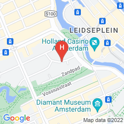 Mapa THE ED HOTEL AMSTERDAM
