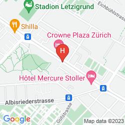 Mapa CROWNE PLAZA ZURICH