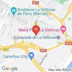 Mapa SOFITEL PARIS LA DEFENSE