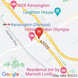 Mapa HILTON LONDON OLYMPIA