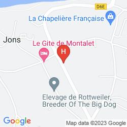 Mapa BEST WESTERN AUBERGE DE JONS