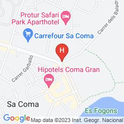 Mapa PROTUR BIOMAR GRAN HOTEL & SPA