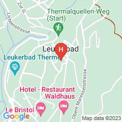 Mapa THERMALHOTELS UND WALLISER ALPENTHERME & SPA LEUKERBAD