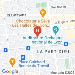 Mapa CITADINES PART-DIEU LYON
