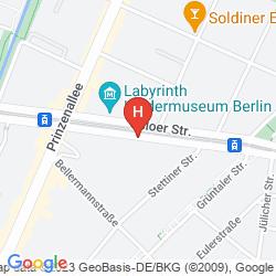 Mapa WYNDHAM GARDEN BERLIN MITTE