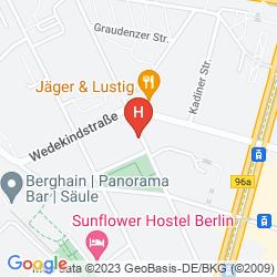Mapa UPSTALSBOOM HOTEL FRIEDRICHSHAIN