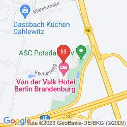 Mapa VAN DER VALK HOTEL BERLINER RING