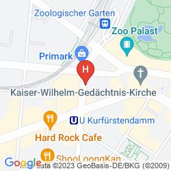 Mapa AZIMUT HOTEL KURFUERSTENDAMM BERLIN