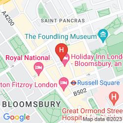 Mapa HOLIDAY INN LONDON BLOOMSBURY