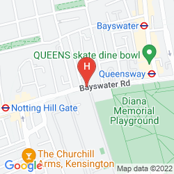 Mapa DOUBLETREE BY HILTON LONDON - HYDE PARK