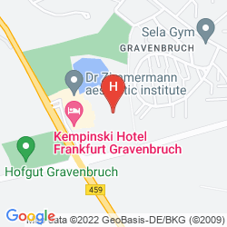 Mapa KEMPINSKI HOTEL FRANKFURT GRAVENBRUCH