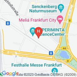 Mapa NH FRANKFURT VILLA