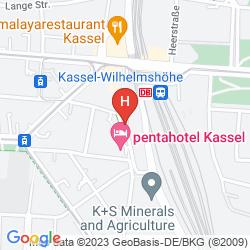 Mapa PENTAHOTEL KASSEL