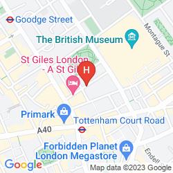 Mapa ST GILES LONDON - ST GILES CLASSIC
