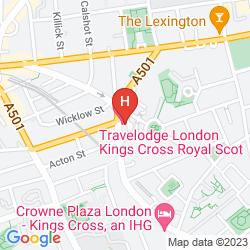 Mapa TRAVELODGE LONDON KINGS CROSS ROYAL SCOT