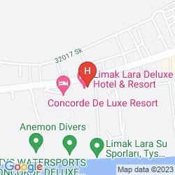 Mapa LIMAK LARA DE LUXE RESORT