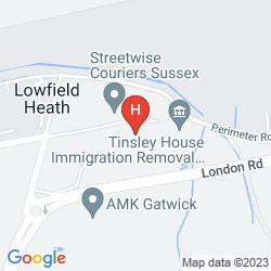 Mapa TRAVELODGE GATWICK AIRPORT