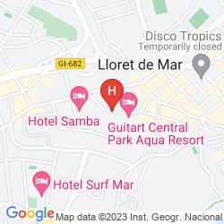 Mapa HOTEL GUITART GOLD CENTRAL PARK AQUA RESORT