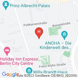 Mapa NOVUM SELECT HOTEL BERLIN CHECKPOINT CHARLIE