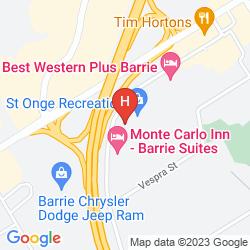Mapa COMFORT INN BARRIE