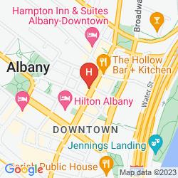 Mapa CROWNE PLAZA HOTEL ALBANY-CITY CENTER (.)