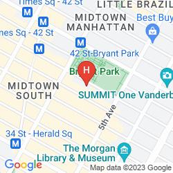 Mapa THE BRYANT PARK