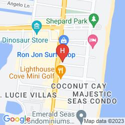 Mapa FOUR POINTS BY SHERATON COCOA BEACH