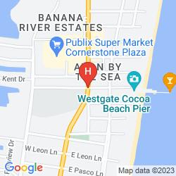 Mapa DAYS INN COCOA BEACH