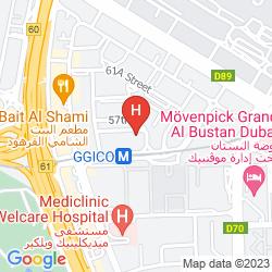 Mapa MILLENNIUM AIRPORT HOTEL DUBAI