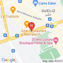 Mapa Mogador Express Gueliz