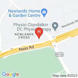 Mapa MALDRON HOTEL NEWLANDS CROSS