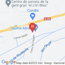 Mapa SALLES AEROPORT GIRONA