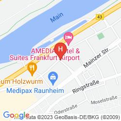 Mapa BEST WESTERN AMEDIA FRANKFURT AIRPORT