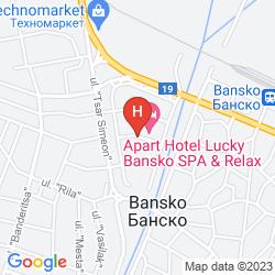 Mapa APARTHOTEL LUCKY BANSKO SPA & RELAX