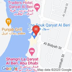 Mapa SHANGRI-LA HOTEL QARYAT AL BERI, ABU DHABI