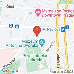 Mapa NOVOTEL PRAHA WENCESLAS SQUARE