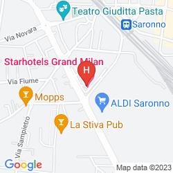 Mapa STARHOTELS GRAND MILAN