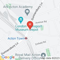 Mapa ACTON TOWN HOTEL & APARTMENTS