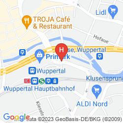Mapa INTERCITYHOTEL WUPPERTAL